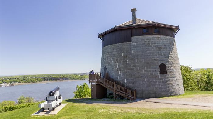 Intérieur de la tour Martello