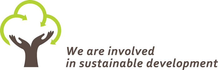 Logo, We are involved in sustainable development