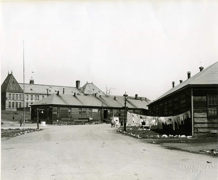 The military barracks
